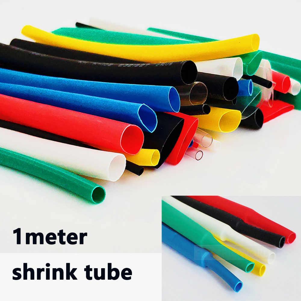 熱収縮チューブ 1 メートル 2:1 黒 1 2 3 5 6 8 10 ミリメートル直径熱収縮チューブ DIY コネクタ修理チューブスリー