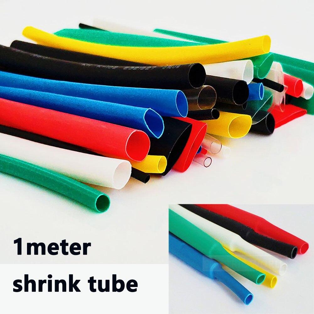 1M Black Heatshrink Heat Shrink Tubing Tube Sleeving 2-10mm Diamete Various Size