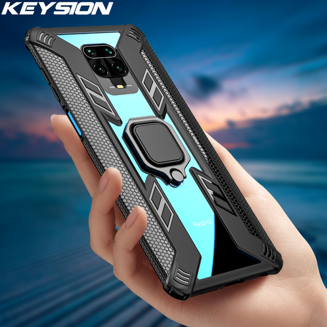 KEYSION Shockproof Case for Redmi Note 8 Pro 8T 9S 9 Pro Max 7 K30 K20 Phone Cover for Xiaomi Mi 10 9T 9 Lite A3 X3 NFC F2 Pro 2