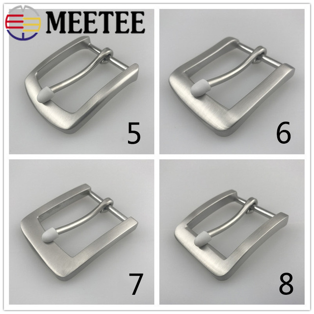 1 piece pin buckle DIY handmade buckle solid stainless steel buckle replacement belt for clipping pin buckle for belts with 4 cm wide Belt buckles metal silver for men