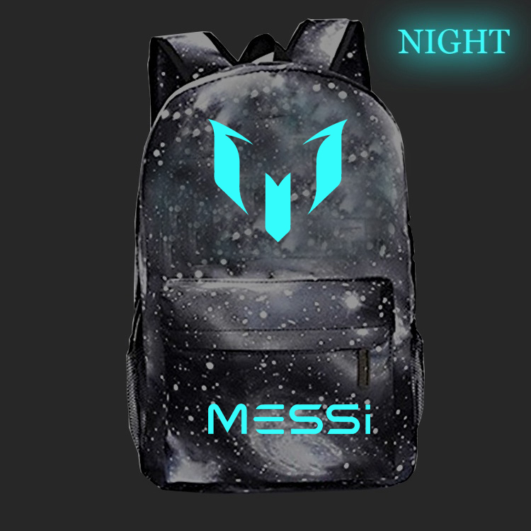 Football Star Messi 10 Luminous School Bags Beautiful Students Boys Girls School Rucksack Fashion Popular Schoolbag For Teens