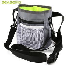 1 pc Snack Food Carrier Box Travel bag Feed Pocket Shrinkable Dog Bag New Training Waist Belt Case Pet Tool