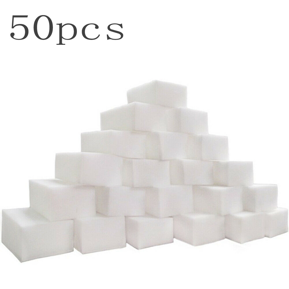 New 50pcs Magic Nano White Sponge Eraser Cleaner For Car Interior Bathroom Cleaning Sponges Non-Toxic