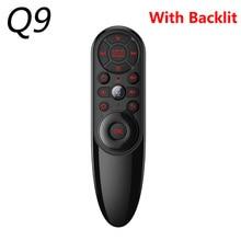 Q9バックライト音声検索2.4グラムワイヤレスエアマウスir学習ジャイロQ6スマート用ボックスミニpc