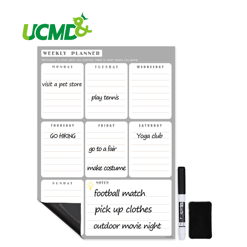 Reusable Magnetic Daily Weekly Planner Whiteboard Rewritable Schedule Record Ing Reminder Memo Note Board With Marker Pen Eraser