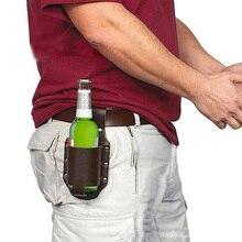 1pc Holster Portable Bottle Beer Belt Bag Storage Handy Wine Bottles Beverage Can Holder Outdoor Waist Packs for Women Men