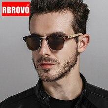 RBROVO 2018 Driving Polarized Sunglasses Men UV400 Square Mirror Bamboo Sun Glas