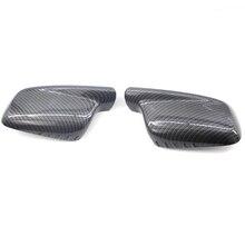 2pcs Reversing Mirror Housing Cover Cap Rear view mirror cover Fits for BMW 7 Series E66 3 E46 E65