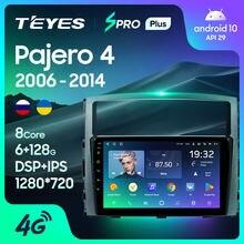 Teyes spro plus para mitsubishi pajero 4 v80 v90 2006 - 2014 rádio do carro reprodutor de vídeo multimídia navegação gps android 10 nenhum 2din