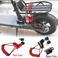 Roda de scooter portátil bloqueio anti-roubo para xiaomi mijia m365 scooter elétrico m365 pro skate freios a disco bloqueio m365 peças