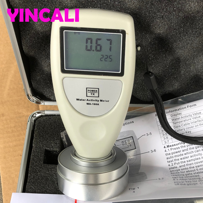 Handheld Water Activity Meter Tester WA-160A High Accuracy 0.02aw Used To Measure The Water Activity Of Foods LCD Display