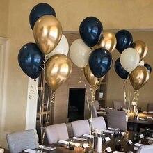 18 шт./лот 10 дюймов темно-синих латексных шаров рождественские украшения для дома, дня рождения, свадьбы, вечерние украшения