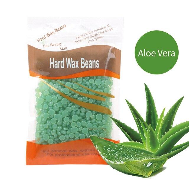 Hair Remover Wax Depilatory Hot Film Wax Pellet Removing Bikini Face Hair Legs Arm Hair Removal Bean Unisex 100g/Pack Beauty & Health