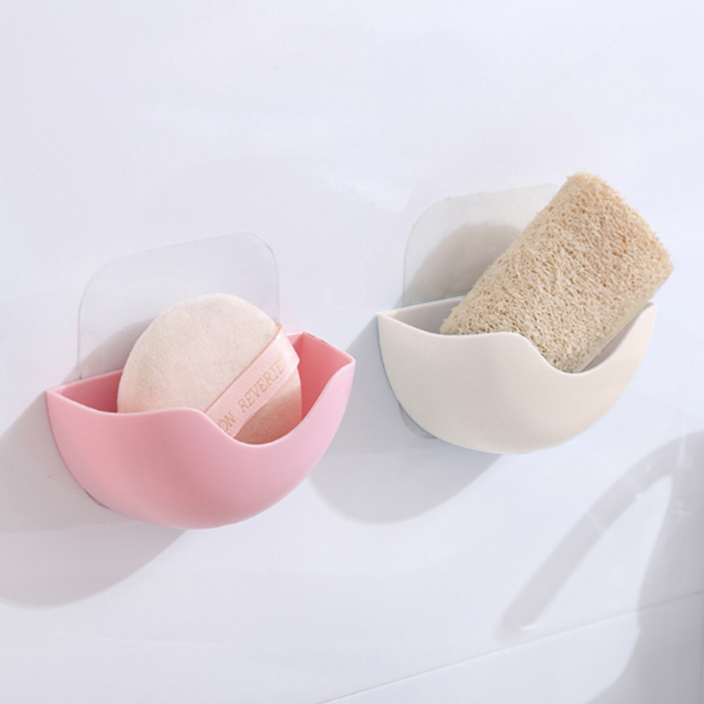 Wall-mounted Soap Box Soap Dish Storage Case Kitchen Cleaning Tools Storage Organizer Bathroom Tray Accessories