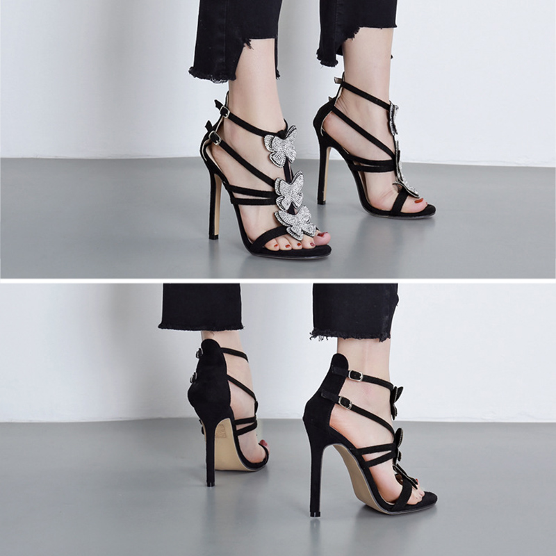 Elegant Hollow Roman Sandals Women Shoes Fashion Rhinestone Bow Women High Heel Shoes Sexy Heels Ladies Wedding Shoes VT1093 (19)