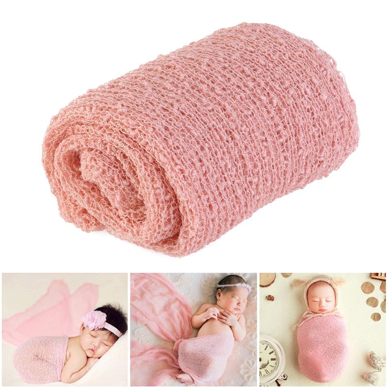 Stretch Soft Newborn Photography Wraps Baby Photo Props Blanket Studio Infant Shooting Background Baby Swaddling Wrap