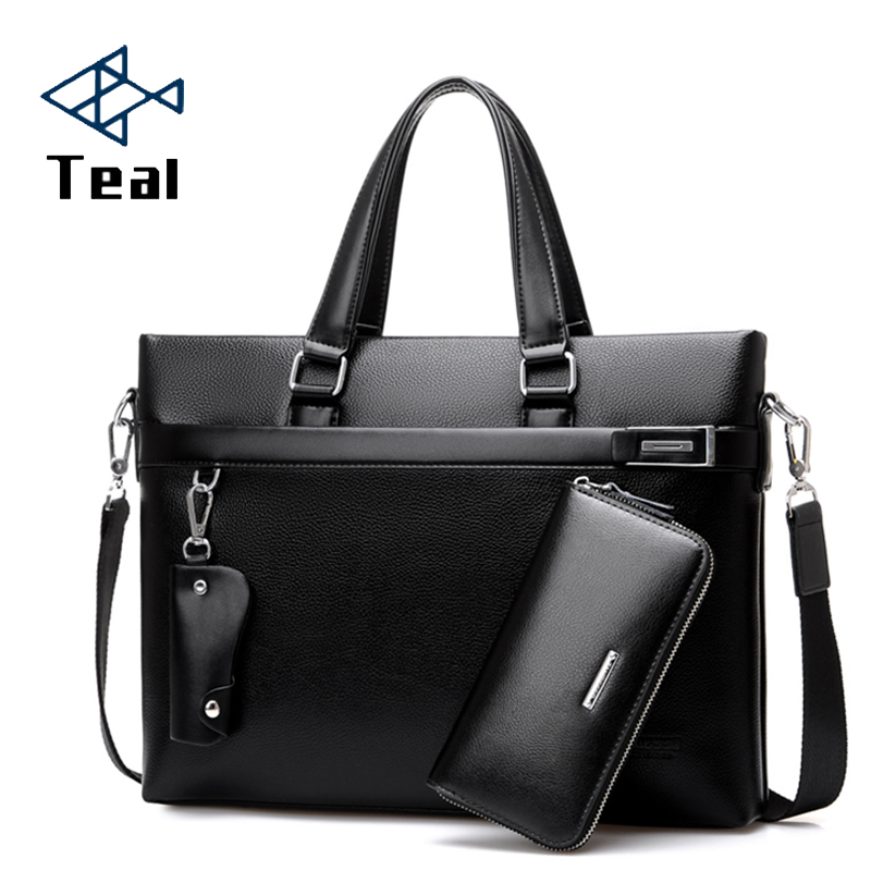 Famous Brand Men Briefcase Pu Leather Laptop Briefcases Business Male Bag Business Shoulder Bags Men Bags High Quality Handbag