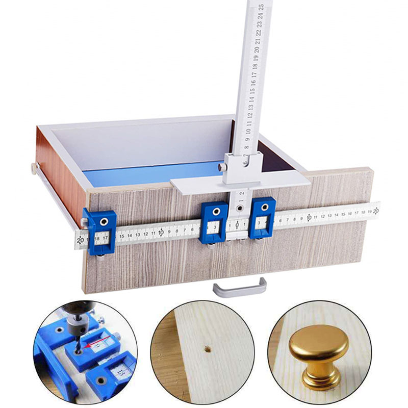 Punch Locator Drill Guide Sleeve Cabinet Hardware Drawer Pull Wood Drilling YU