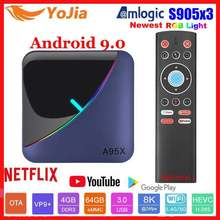 Lumière rvb Amlogic S905X3 Smart TV Box Android 9.0 4GB RAM 64GB ROM A95X F3 Support maximum 8K Flex lecteur multimédia OTA double Wifi 2/16G(China)