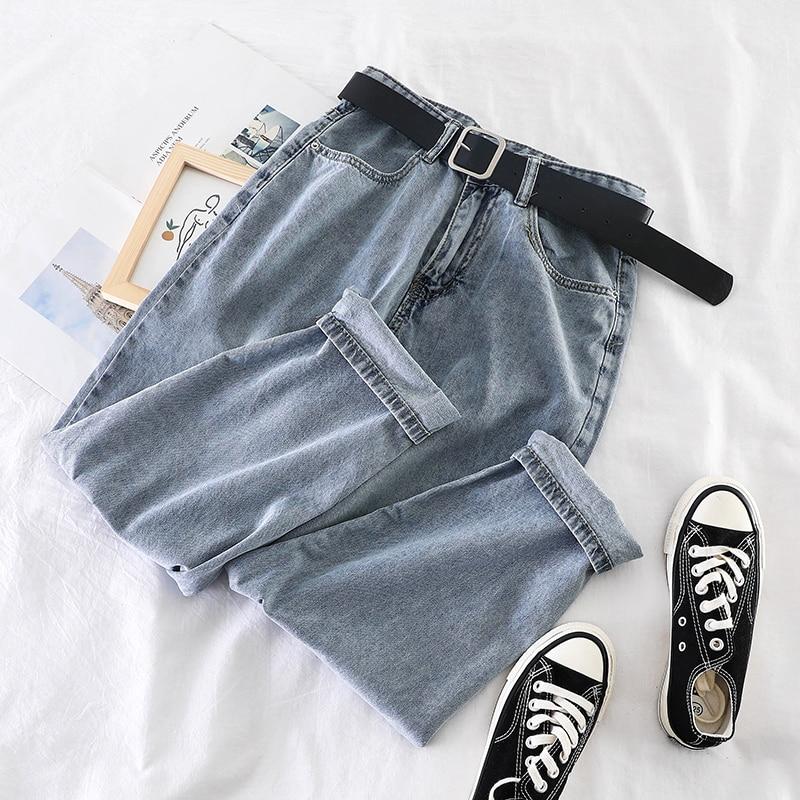 Women's Jeans Wild Mom Jeans Workwear New Korean Harem Jeans Woman Super Fire High Waist Loose Elastic Woman Jeans