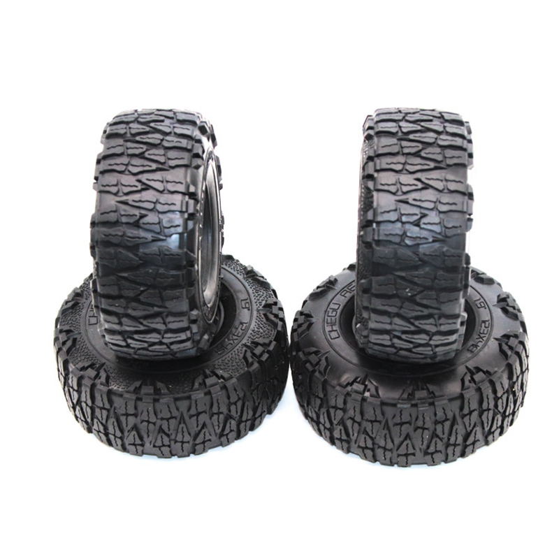 4Pcs <font><b>1/10</b></font> RC Crawler Tires For D90 TRX4 SCX10 AXIAL KM2 RC Car <font><b>Accessories</b></font> 1.9 Inch 12m image