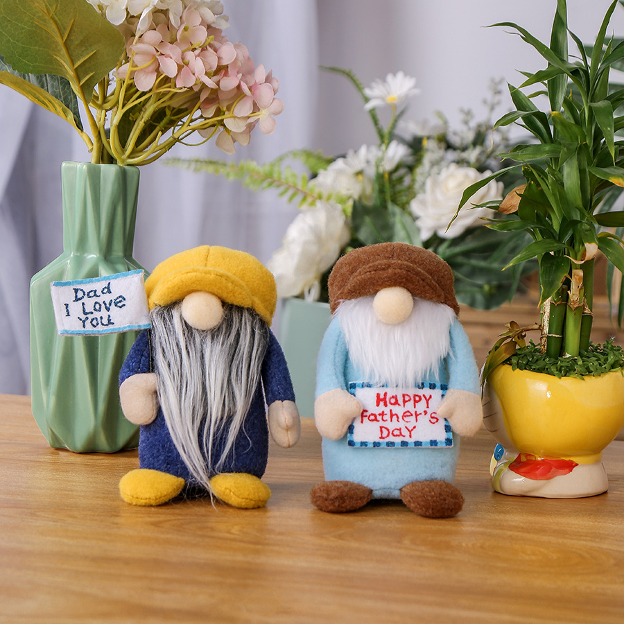 Hong Kong Love Father's Day Doll Desktop Decoration Cute Faceless Doll Elf Doll Decoration Holiday Gift Wholesale