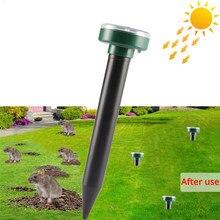 1 pçs movido a energia solar ultra sônico rato sônico mole repelente de pragas roedor repelente quintal luz led repeller lâmpada ao ar livre quintal jardim