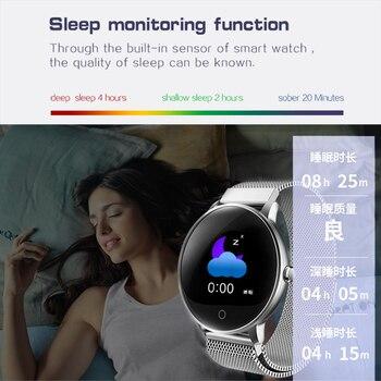 2019 Nuevo Color Pantalla Mujer Deporte Reloj Inteligente Hombres Mujeres Fitness Rastreador Para IPhone Frecuencia Cardíaca Función De Presión Arterial Reloj Inteligente