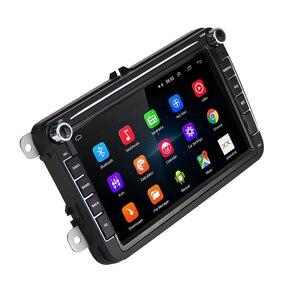Hikity автомобильный мультимедийный плеер 2 Din Android 8,1 GPS авто радио для VW/Volkswagen/Golf/Polo/Passat/b7/b6/SEAT/leon/Skoda