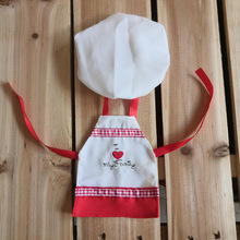 A Christmas Tradition Toys Accessories Santa Couture Clothing for Elf Doll Apron + hat