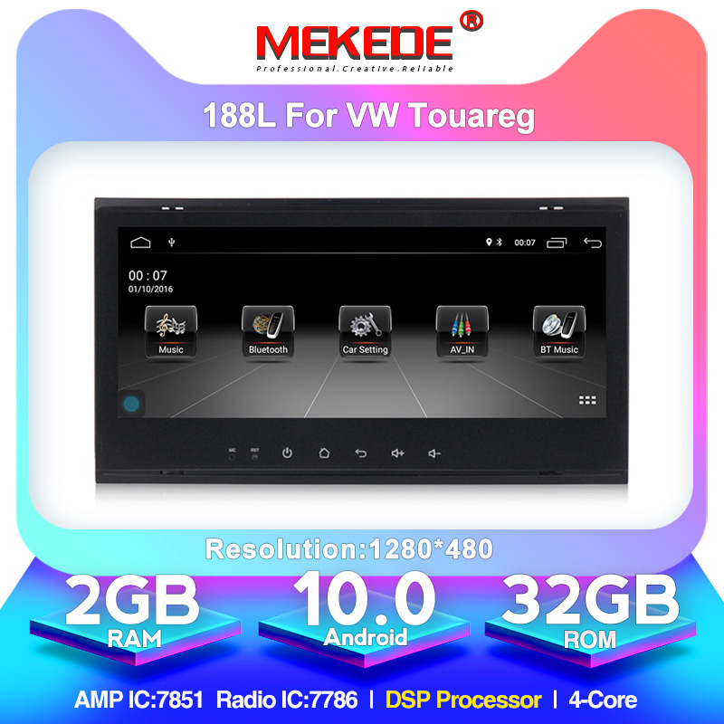 "MEKEDE 8.8""Android 10 Car DVD GPS Car Multimedia Player For VW Touareg Multivan T5 (2002-2010) Car Radio GPS Navigation NO DVD"