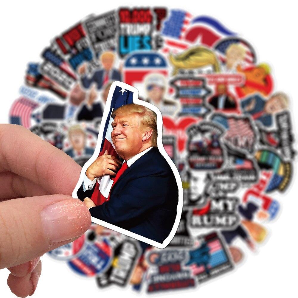 50pcs Trump funny Scrapbooking Stickers Packs Waterproof Skateboard Luggage Motorcycle Guitar Graffi