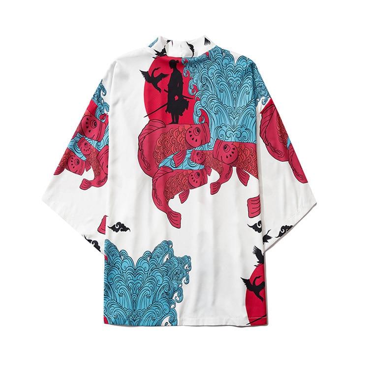 Харадзюку японская мода кимоно 2020 для мужчин и женщин кардиган блузка Haori Obi азиатская одежда самурая