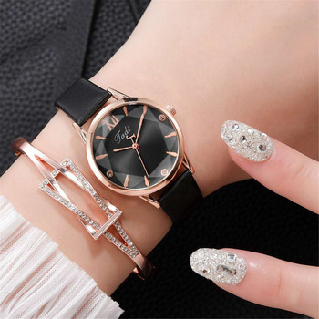 top brand women's watch leather rose gold dress female clock luxury brand design women watches simple fashion ladies watch image