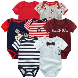Image 5 - למעלה איכות 7 יח\חבילה תינוק בני בנות בגדי 2020 אופנה ropa bebe ילדים בגדי יילוד rompers תינוקת כולל סרבל