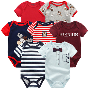 Image 5 - En kaliteli 7 adet/grup bebek erkek kız elbise 2020 moda ropa bebe çocuk giyim yenidoğan tulum genel bebek kız tulum
