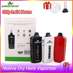 Image 1 - In Stock!! Original airistech Nokiva dry herb vaporizer 2200mah Ceramic Chamber Heating Electronic Cigarette Kit Herbal Vape Pen