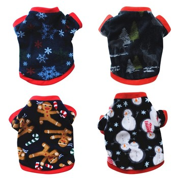 Bluzy dla psów ubrania dla psów kurtki dla psów ubrania dla psów bawełniane Puppy kombinezony dla zwierząt domowych dla psów kostiumy ubrania dla kotów zwierzęta stroje tanie i dobre opinie 100 bawełna Zima Drukuj