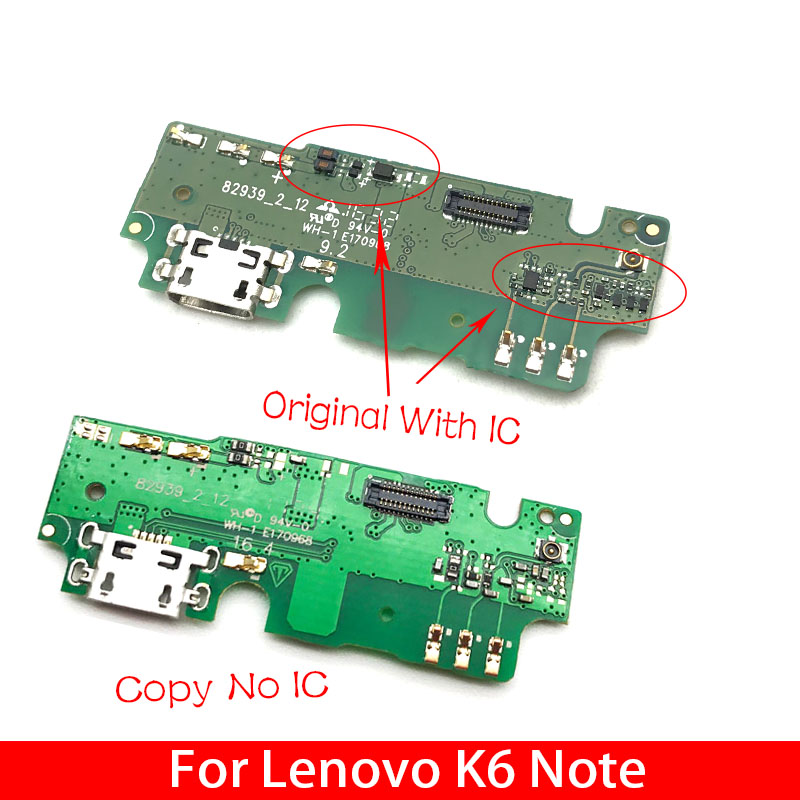 10Pcs/Lot,  Micro Dock Conector Charge Charger Board USB Charging Port Flex Cable Ribbon For Lenovo K6 Note K6Note K53a48