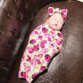 Paquetes Para Bebes Recien Nacidos.2 Unids Set De Tela Para Envolver Para Bebe Diadema Para