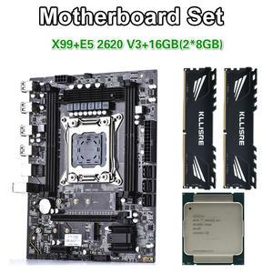 Kllisre 2400mhz-Ddr4 Xeon E5 2620 V3 CPU with 2pcs 8GB--16GB X99 Memory