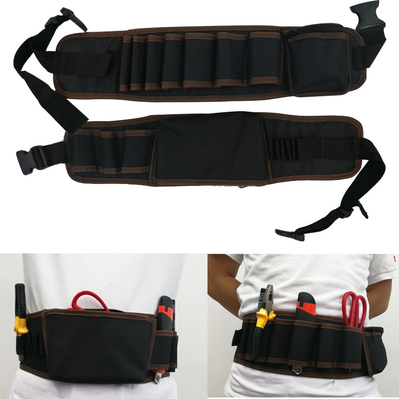 2 Style Storage Belt Waterproof Drill  Waist Tool Bag For Electric Tools Wrench Hammer Screwdriver Multi-functional Tool