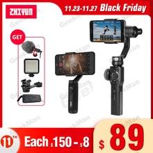 ZHIYUN Smooth 4 Q2 – stabilisateur de caméra daction à cardan 3 axes portatif, pour téléphone Gopro SJCAM pk DJI OSMO Pocket
