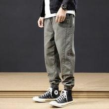 Джинсы мужские свободного покроя модные брюки карго в уличном