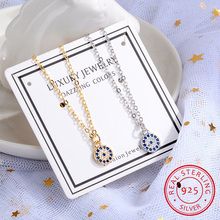 Free Shipping 925 Sterling Silver Eyes Of Evil Necklaces Pendants Women