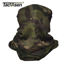 TACVASEN Camouflage Tactical Neck Gaiter Multicam Face Cover Sun Protection Military Army Scarf Balaclava Motorcycle Face Scarf
