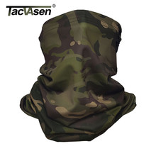 TACVASEN Camouflage Tactical Neck Gaiter Multicam Face Mask Sun Protection Military Army Scarf Balaclava Motorcycle Face Masks(China)