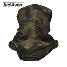 TACVASEN הסוואה טקטי צוואר גייטר מרובה פנים כיסוי שמש הגנה צבאי צבא צעיף גרב אופנועים פנים צעיף