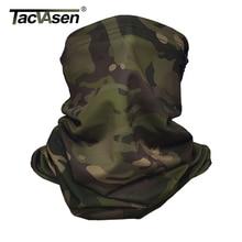 Tacvasen 迷彩、戦術的なネックゲーターマルチカム顔カバー太陽保護軍事陸軍スカーフバラクラバオートバイ顔スカーフ