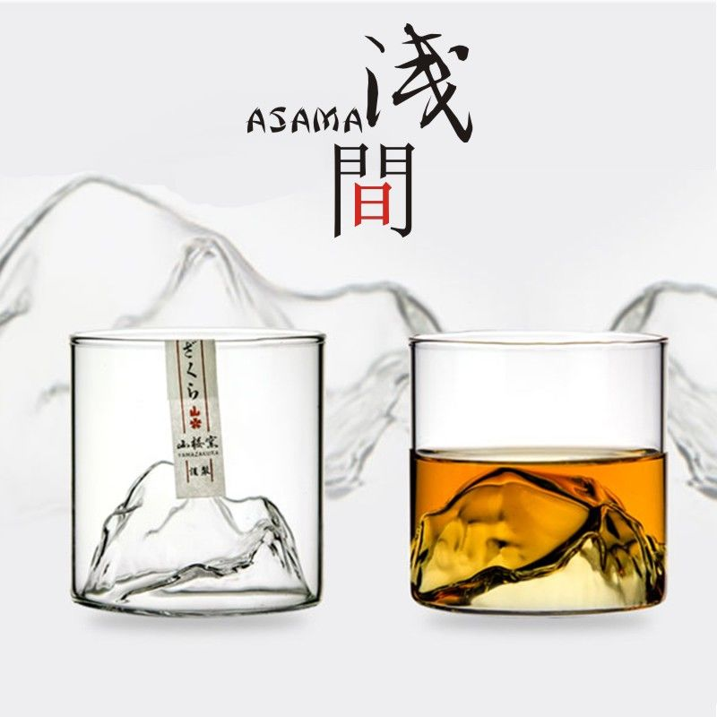 Kanyama shape tea cup Asamayama cup heat-resistant art glass red wine glass white wine glass